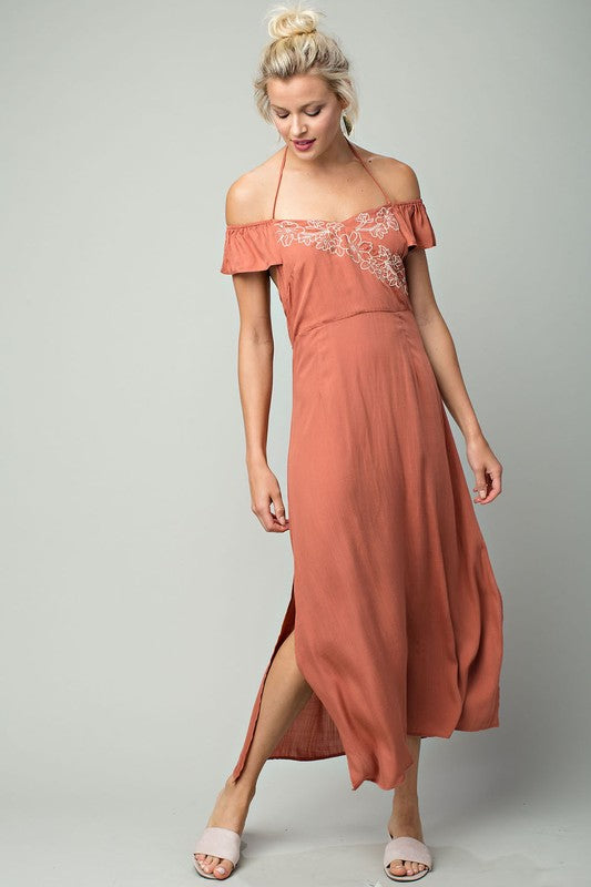 Rustic Romantic Maxi Dress