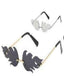 Black  and Silver Fire Flame Sunglasses