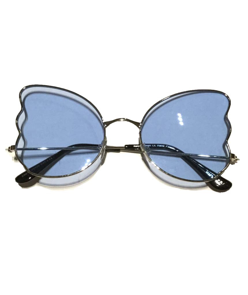 Blue Butterfly Oversized Sunglasses