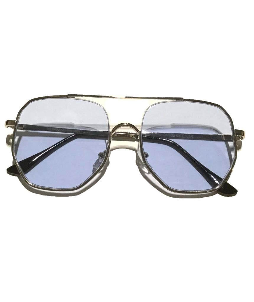 Blue Oversized Square Sunglasses