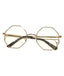 Clear Octagonal Sunglasses