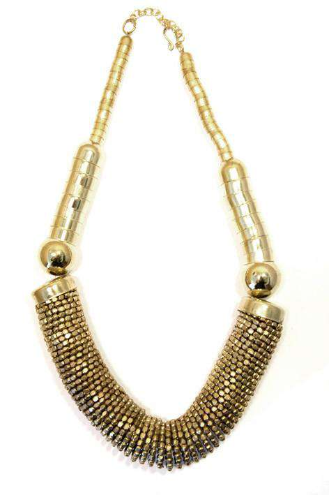 Round chuncky gold fashion necklace