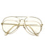 Gold Big Poppa Round Frame Glasses