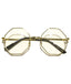 Gold Clear Octagonal Sunglasses