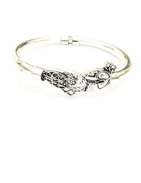 Classic Silver Bangle With Details