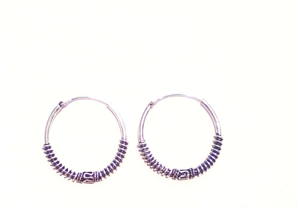 Bali Style Earrings in Silver