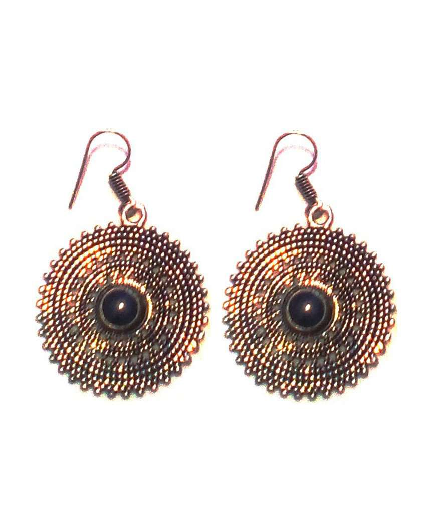 Drop Earrings with Stone