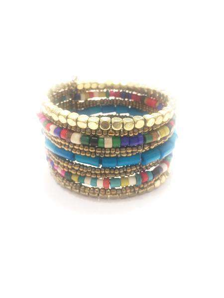 Gold & Turquoise Cuff