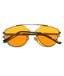 Orange Rounded Oversized Glasses