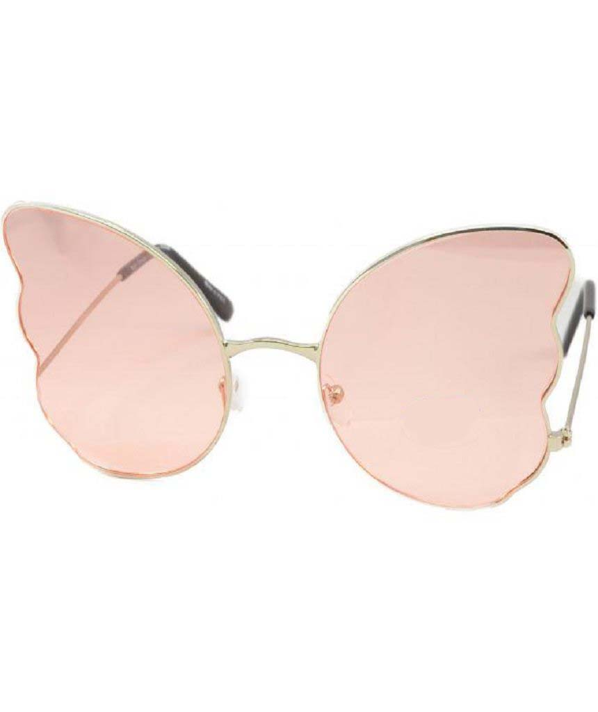 Pink Butterfly Oversized Sunglasses