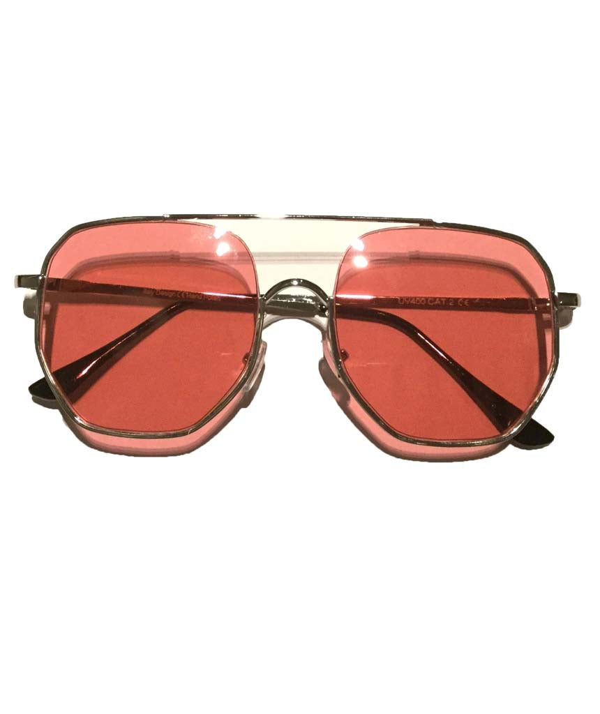 Pink Oversized Square Sunglasses