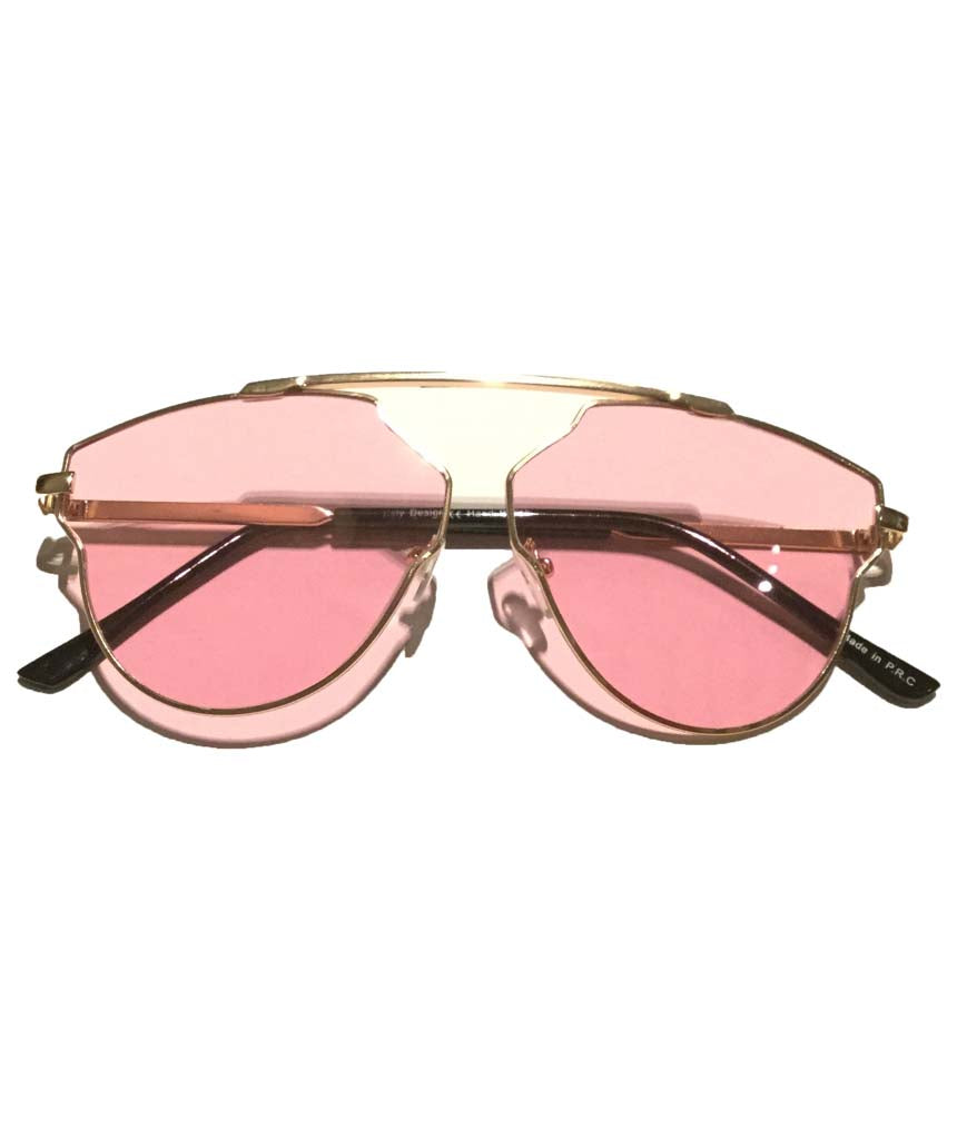 Pink Rounded Oversized Glasses