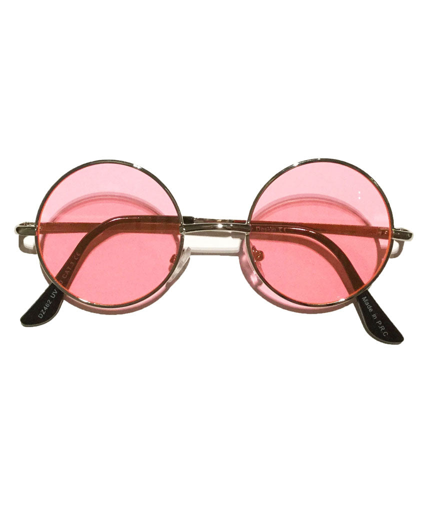 Pink Small Round Lens Sunglasses