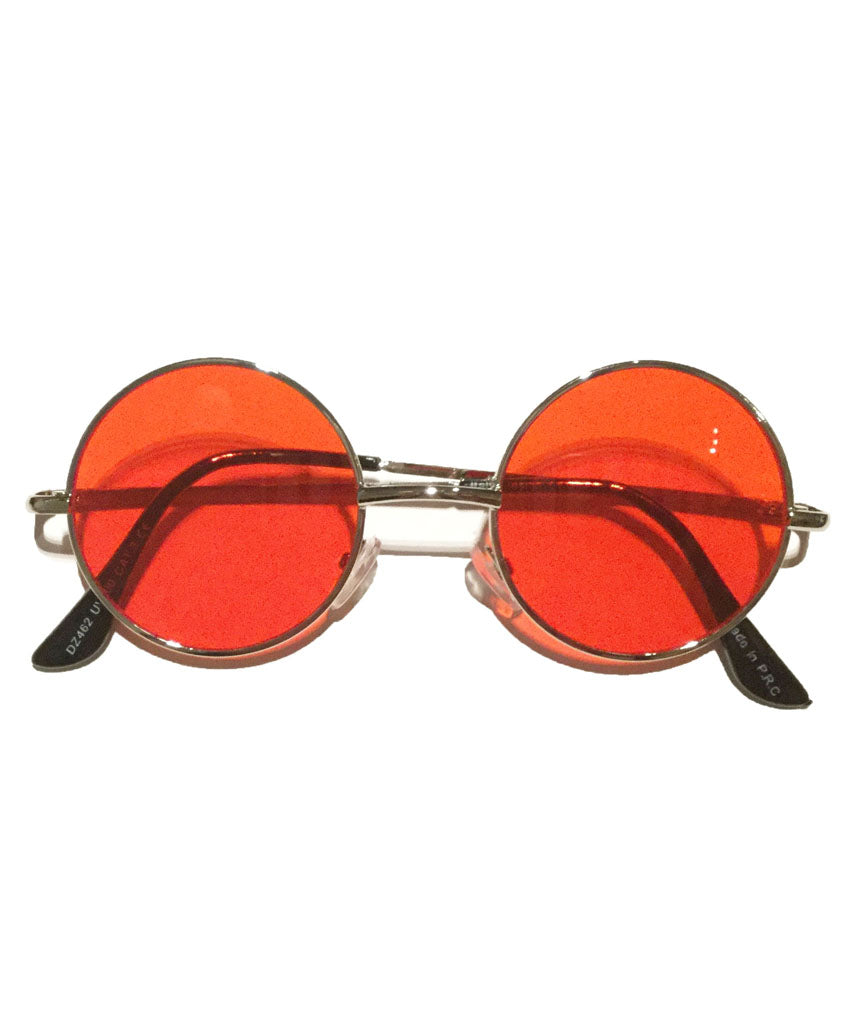 Red Small Round Lens Sunglasses