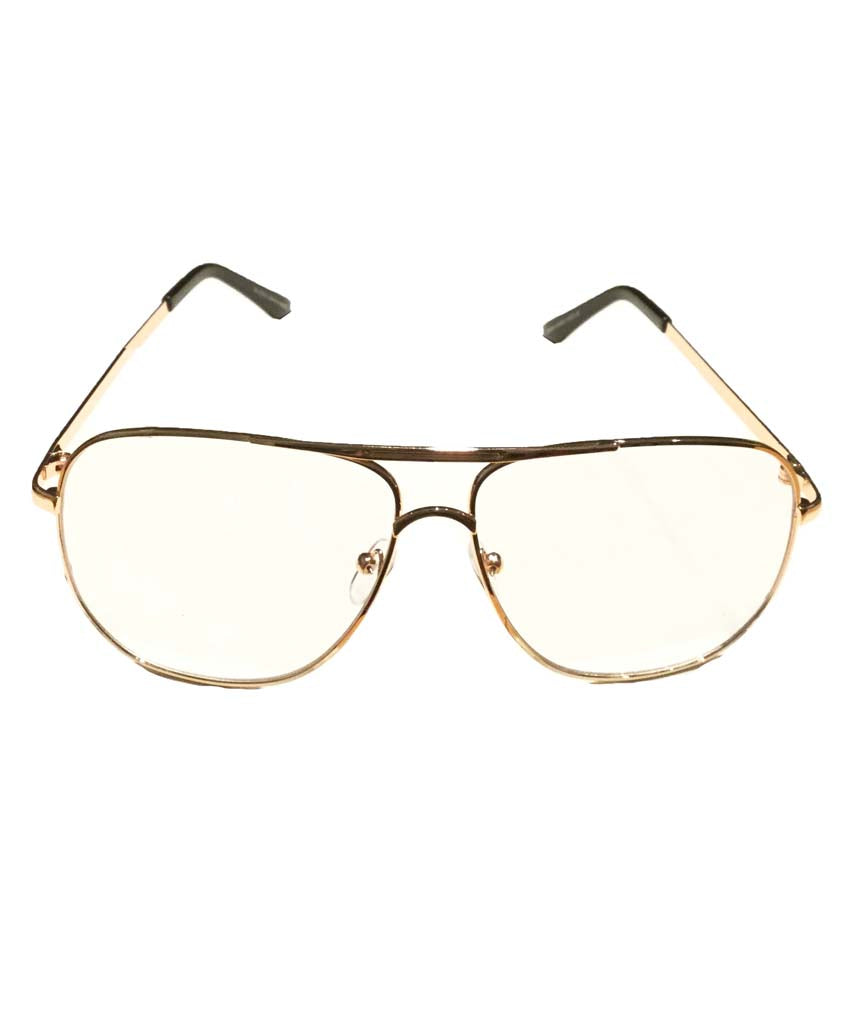 Rose Gold Plain Lens Glasses