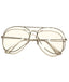 Silver Big Poppa Round Frame Glasses