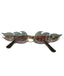 Silver Fire Flame Sunglasses