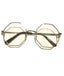 Silver Clear Octagonal Sunglasses