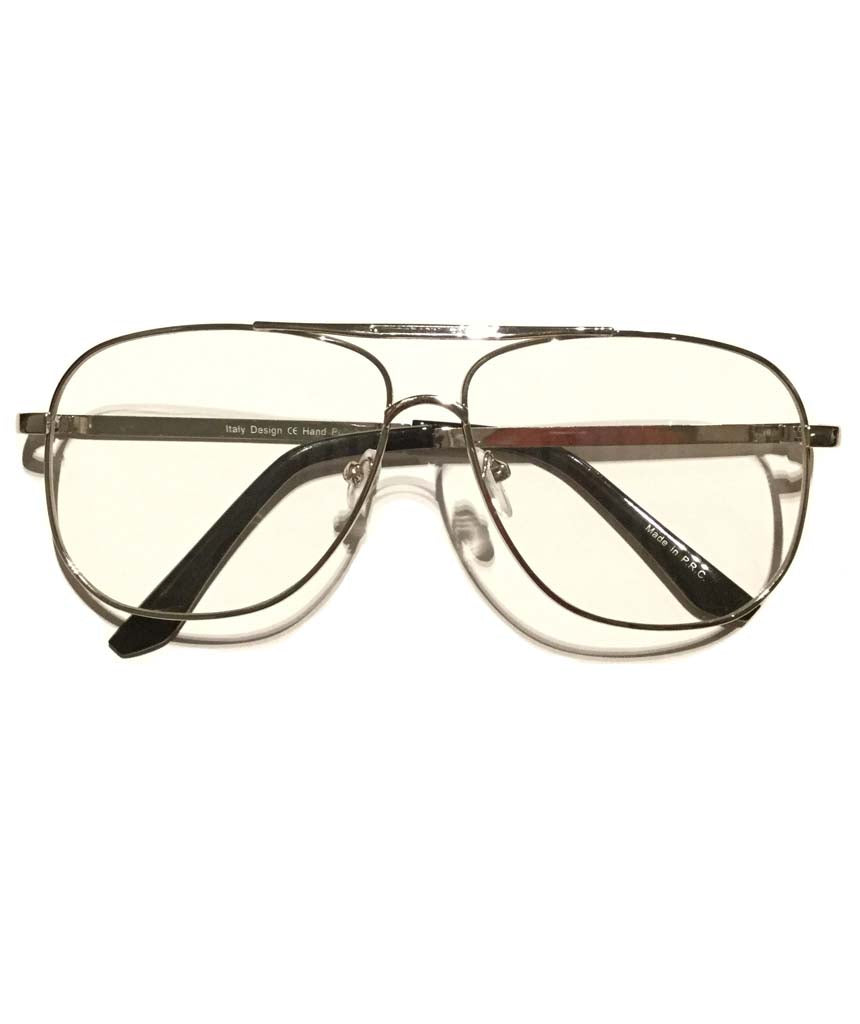 Silver Plain Lens Glasses