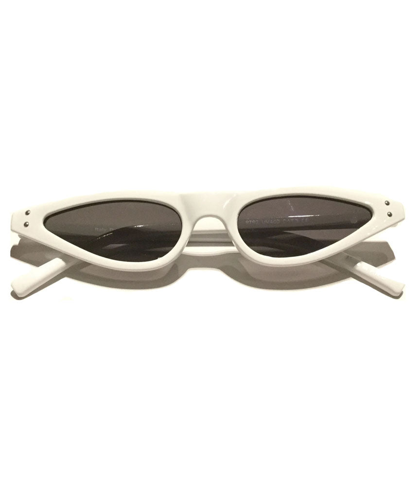 White Stylish Retro Sunglasses