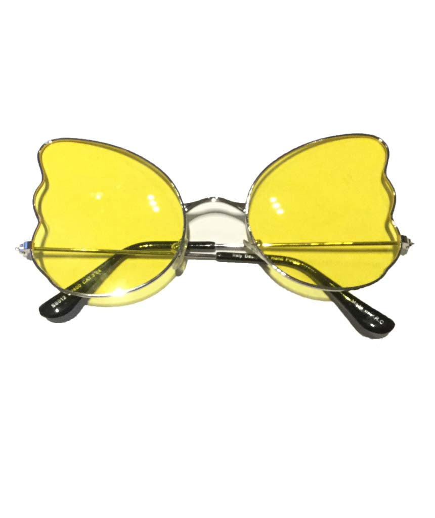 Yellow Butterfly Oversized Sunglasses