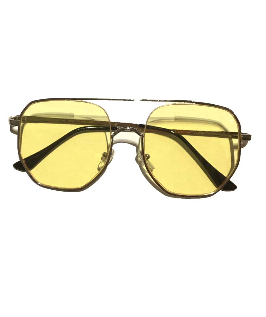 Yellow Oversized Square Sunglasses