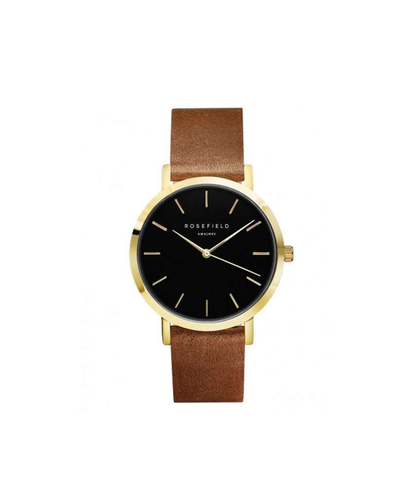 The Gramercy Black Brown Gold Watch