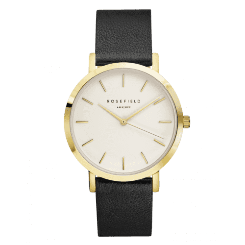 The Gramercy White Black Gold Watch