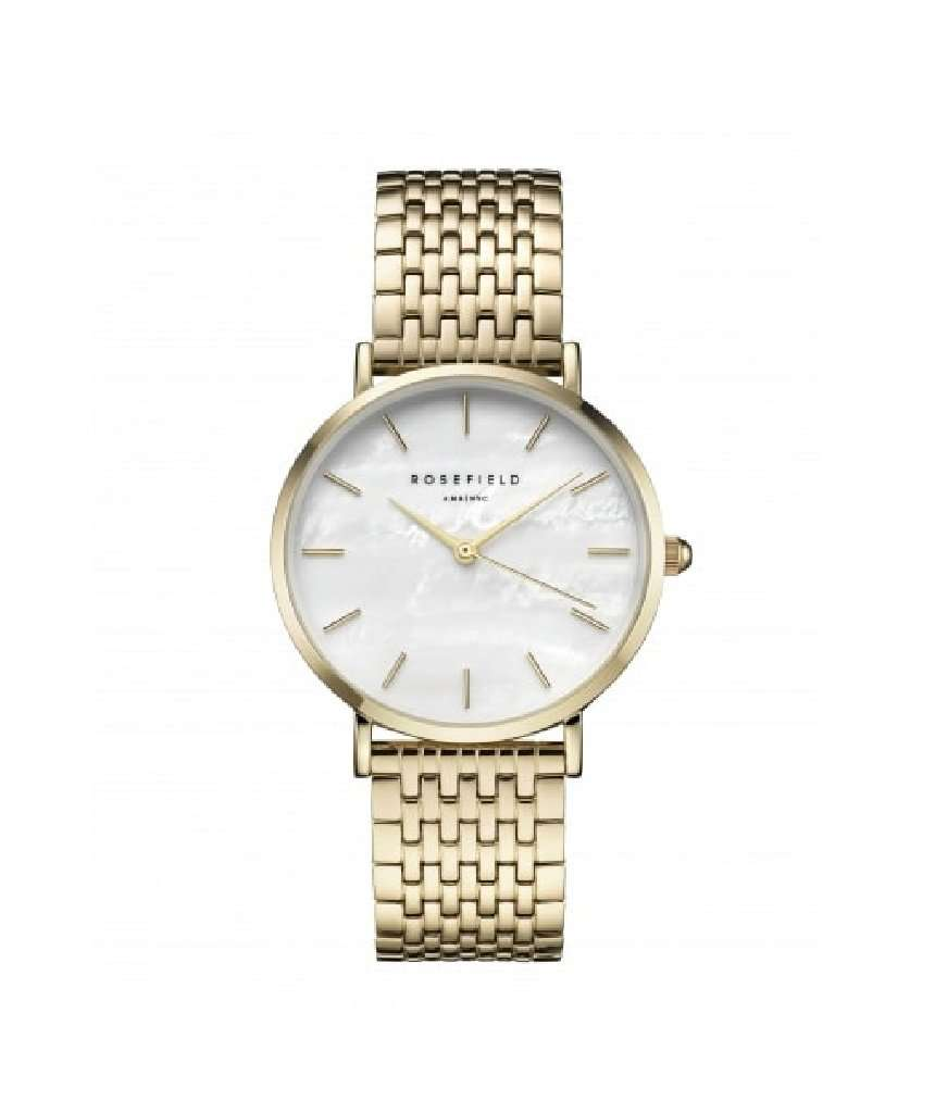 The Upper East Side White MOP Gold Watch