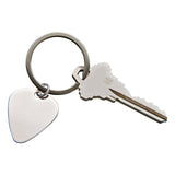 GUITAR PICK SHAPED KEY CHAIN