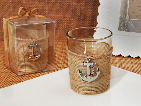 Unique Rustic nautical candle holder wedding favors