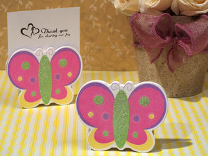 Playful Butterfly Photo Place Card Holder Baby Shower Party Favors