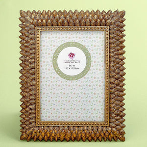 Brushed gold leaf design 5 x 7 frame