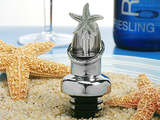 Starfish Wine pourer Bottle stopper wedding Bridal Shower Party favors