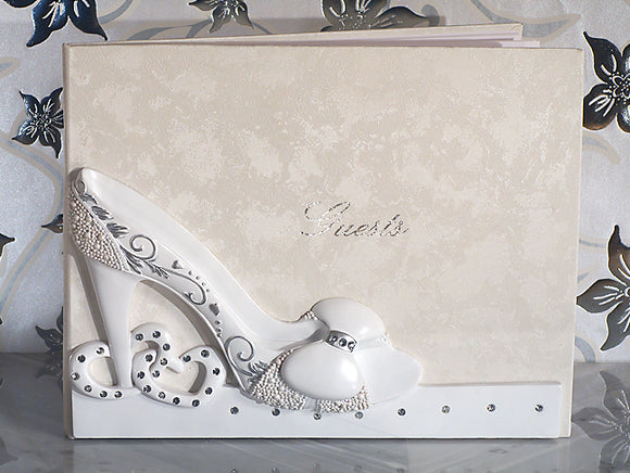 Belle of The Ball shoe WEDDING GUESTBOOK GUEST BOOK Bridal Shower Wedding Gifts