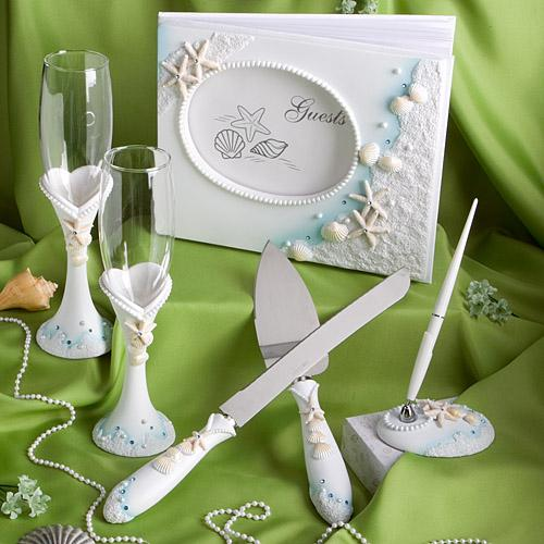 <em>Finishing Touches  Collection</em> Of Beach Themed Wedding Day Accessories