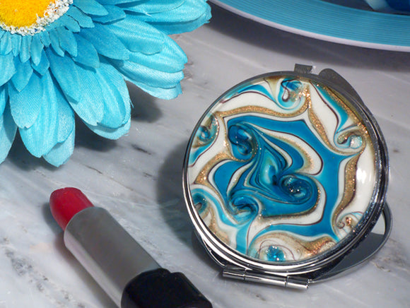 Murano compact mirror Wedding Bridal Shower Party Favors