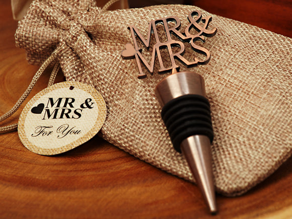 Copper Elegance Mr. and Mrs. Bottle stopper - Cassiani Vintage collection