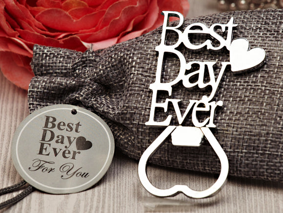 Our Best Day Ever Chrome Bottle opener - Cassiani Silver Elegance Collection