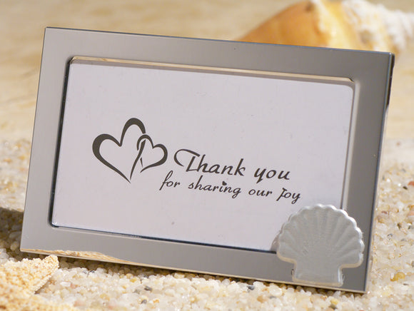 Beach theme metal photo frame wedding favors