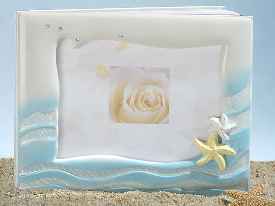 Starfish beach theme WEDDING GUESTBOOK GUEST BOOK REGISTRY Bridal Shower Gift