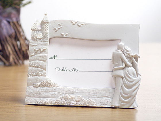 Happily ever after Bride and Groom photo frame wedding favors