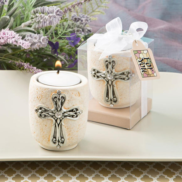Cross design candle tea light holder from Fashioncraft®