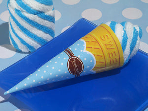 Sweet Treats Collection Blueberry swirl Ice cream cone towel Favors