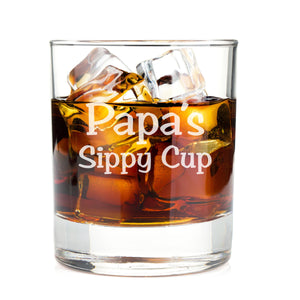 Papa's Sippy Cup Whiskey Glasses
