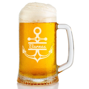 Monogram Anchor Beer Mug