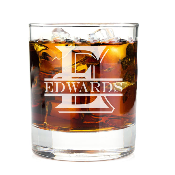 Monogrammed Engraved Whiskey Glass