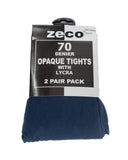 Zeco Opaque Tights Navy Blue