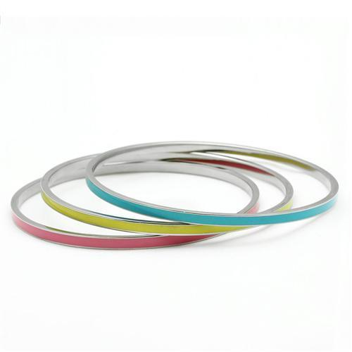 TK241 High Polished (No Plating) Stainless Steel Bangle - Favshion