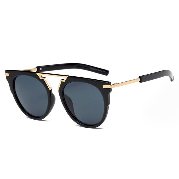 HANOVER | S2004 - Unisex Fashion Brow-Bar Round Sunglasses - Favshion
